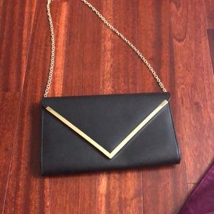 Aldo brand new black clutch purse